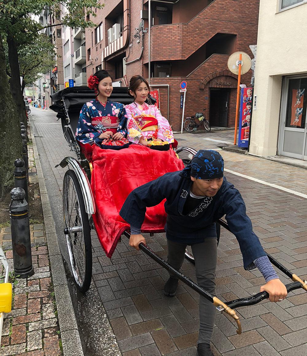 和食・着物・人力車観光セット