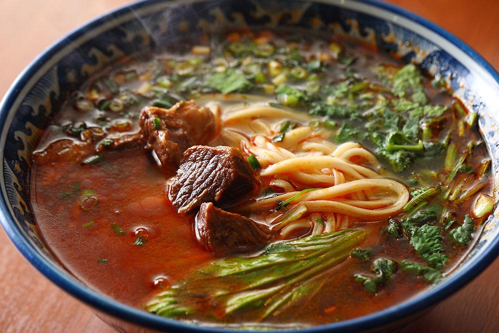 Steamed beef noodles